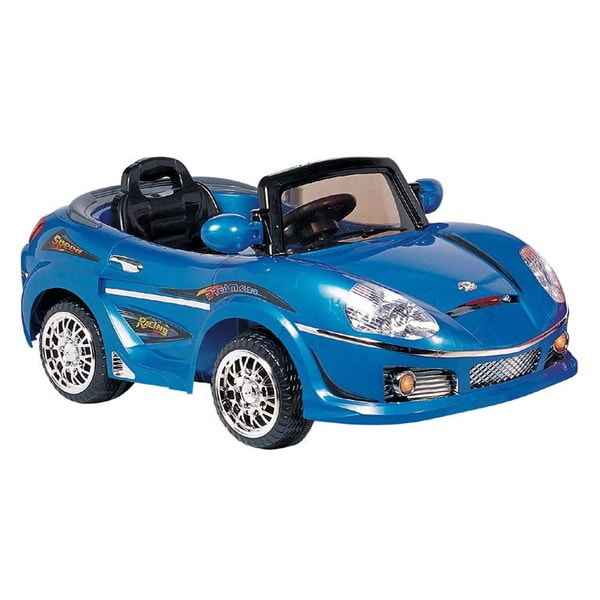 Best Ride On Cars Blue Convertible Ride-On Car