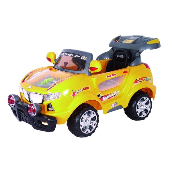 Best Ride On Cars Yellow Thunder Ride-on Car