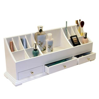 Richards Homewares Large White Cosmetic Organizer