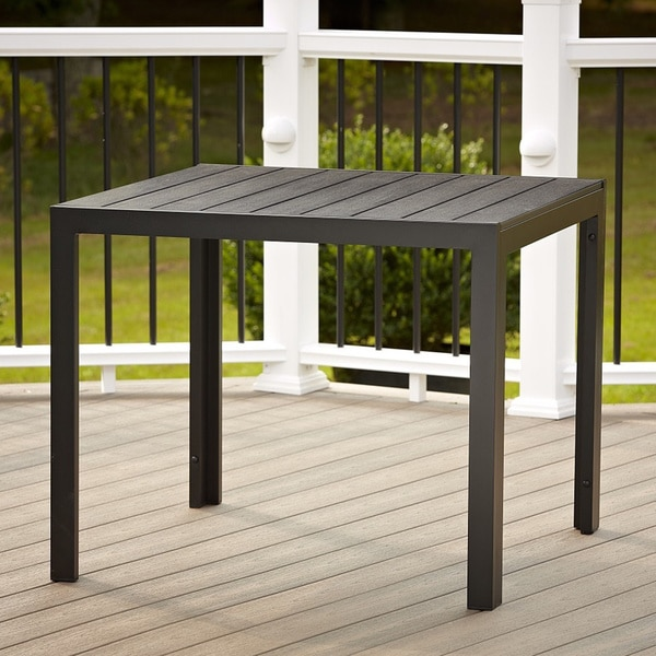 Barcelona Resin Wicker Aluminum 39 Inch Square Outdoor Dining Table