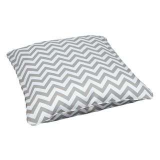 Chevron Grey Corded Outdoor/ Indoor Large 28-inch Floor Pillow