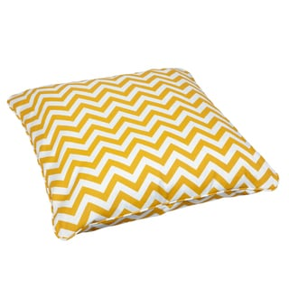 Chevron Yellow Corded Outdoor/ Indoor Large 28-inch Floor Pillow