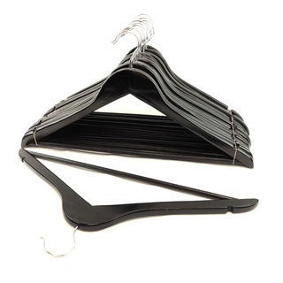 Black Wood Suit Hangers (Set of 48)