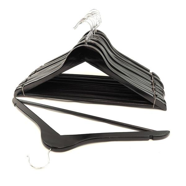 Black Wood Suit Hangers (Set of 48)