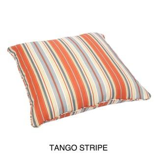 Stripe Corded Outdoor/ Indoor Large 28-inch Floor Pillow