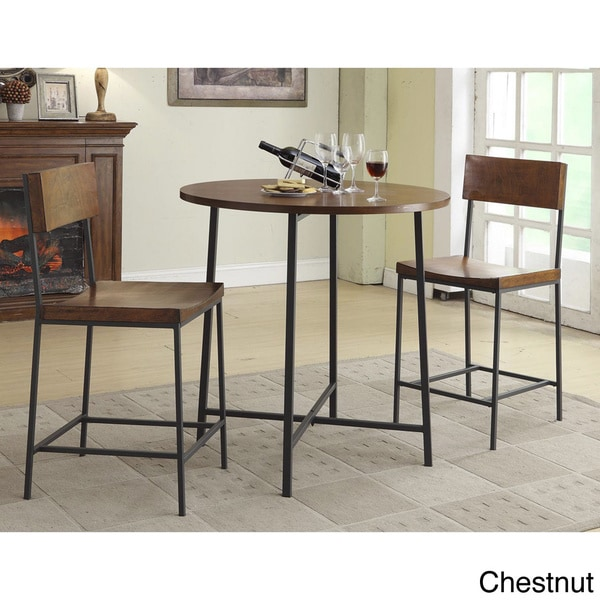36 inch round lakeland bar table and lakeland counter stool set