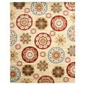 Contemporay Suzanis Multicolor Area Rug (7'10 x 9'10)