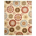 Deco Pinwheel Antique Ivory Area Rug (7'10 x 9'10)