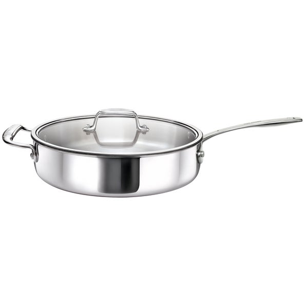 Tri-Ply Stainless Steel Saute Pan with Glass Lid
