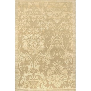 Impressions Antique Damask/ Gold-Ivory Area Rug (6' x 9')