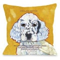 English Setter 4 Throw Pillow