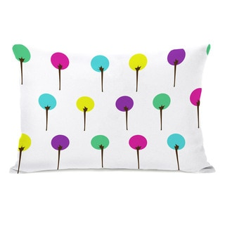 Colorful Trees Neon Throw Pillow
