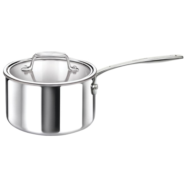 Cool Kitchen Tri-Ply Stainless Steel Sauce Pan with High Polish Mirror Finish