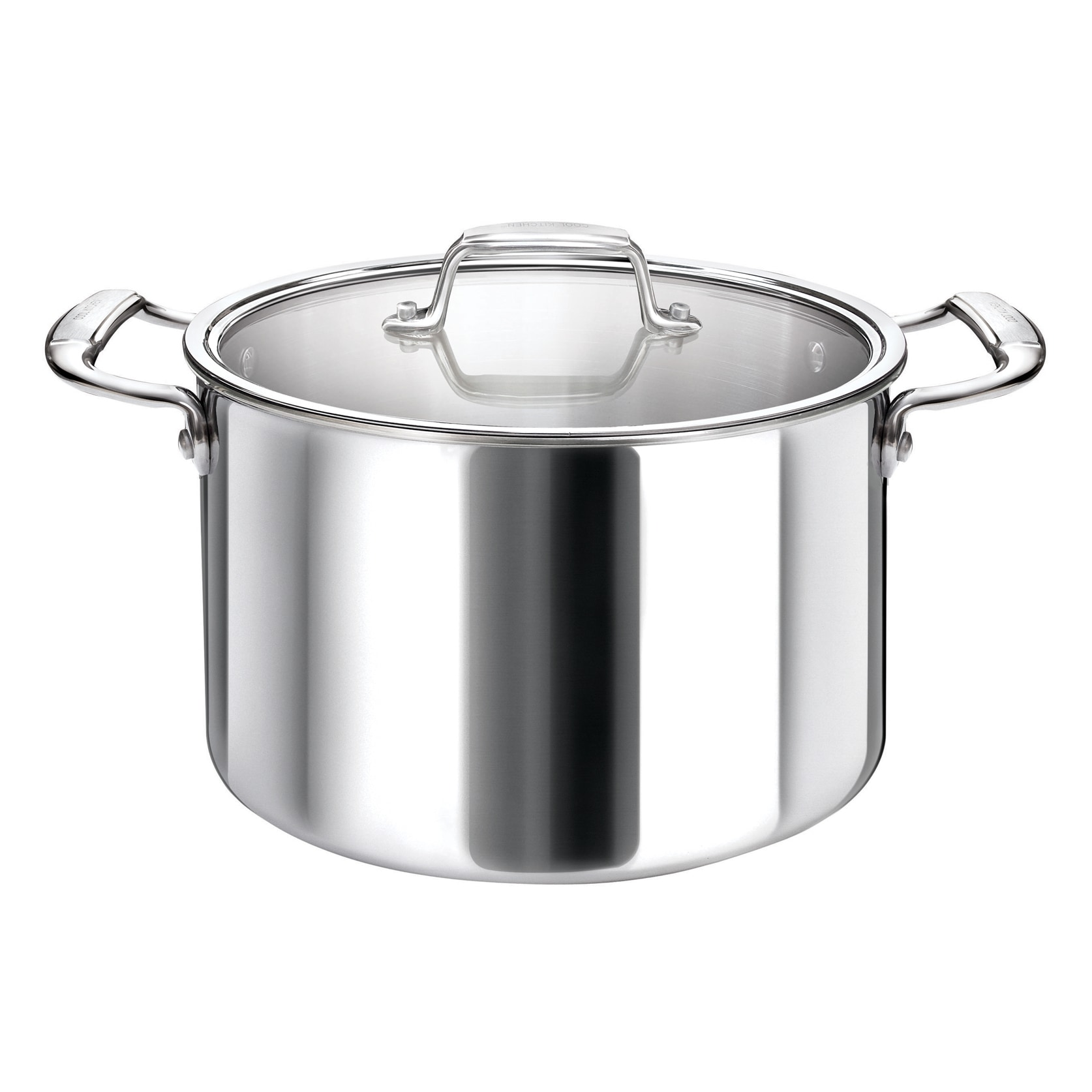 Overstock.com Cool Kitchen Tri-Ply Stainless Steel Stock Pot with High Polish Mirror Finish at Sears.com