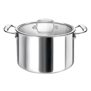 Cool Kitchen Tri-Ply Stainless Steel Stock Pot with High Polish Mirror Finish