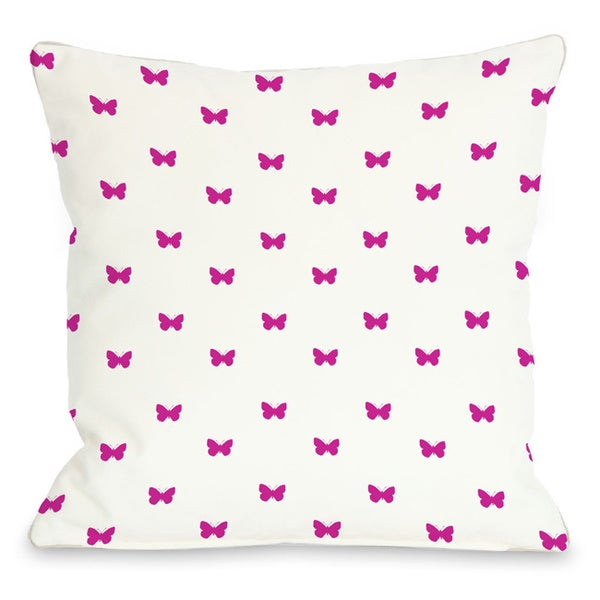 Mini All Over Butterfly Throw Pillow