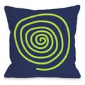 Neon Swirl Throw Pillow