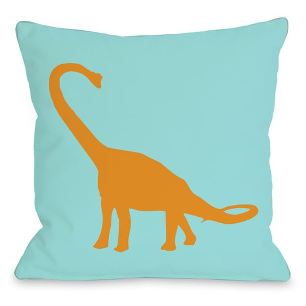 Apatosaurus Neon Throw Pillow