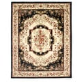 Ancient Empire Black Area Rug (7'10 x 9'10)