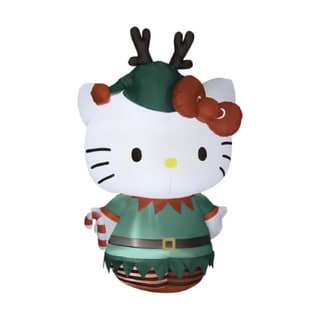 5.5-foot Air blown Hello Kitty Dressed as an Elf