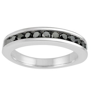 14k White Gold 1/2ct Black Diamond Eternity Band