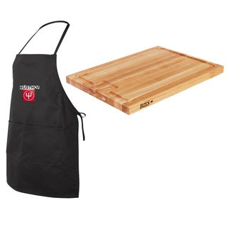 John Boos AUJUS Maple Edge-grain Au Jus 24x18x1.5 Cutting Board with Juice Groove