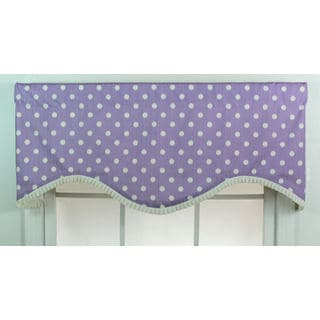 Ikat Dotty Lavendar Cornice Window Valance