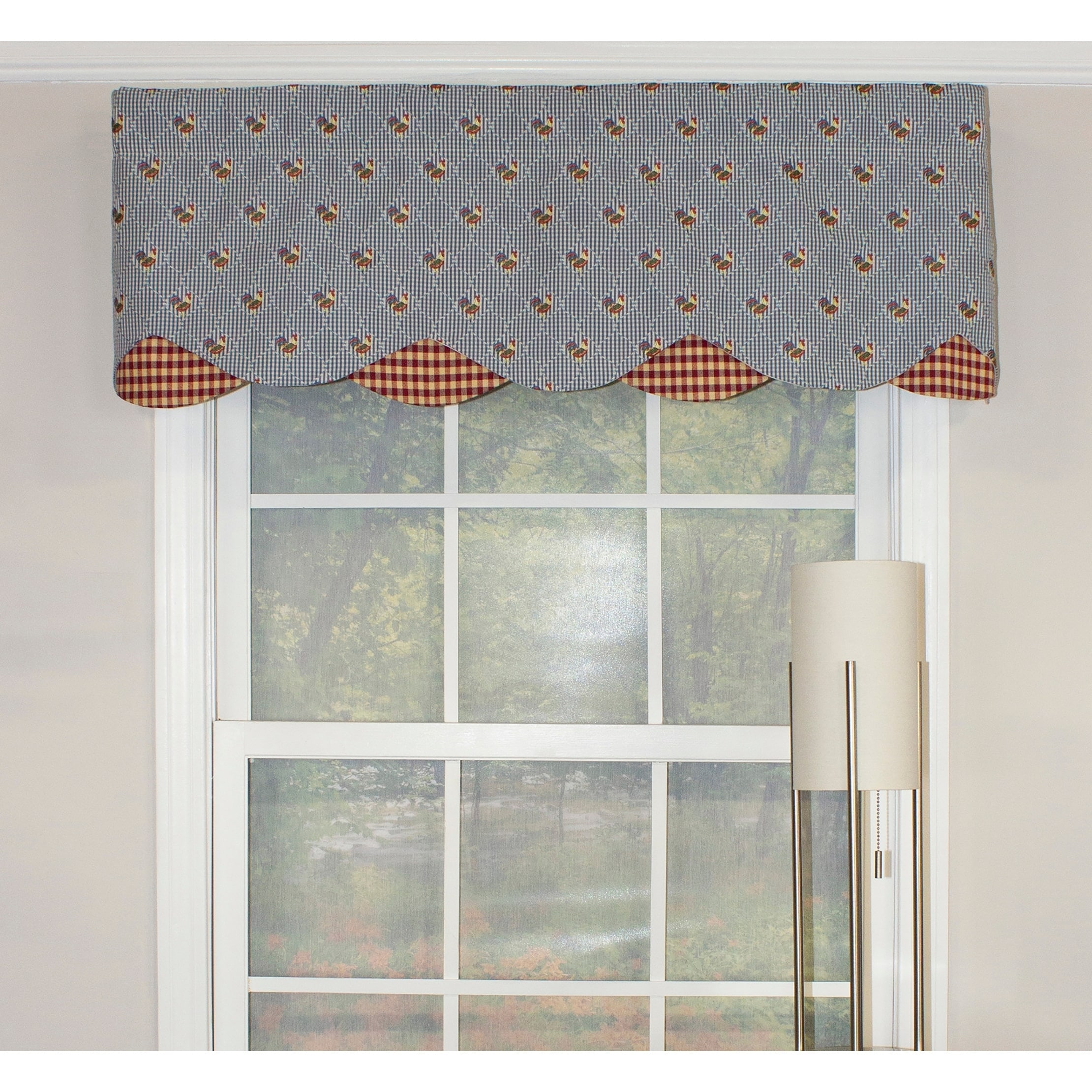 Rlf Home Henny Penny Blue Petticoat Window Valance at Sears.com