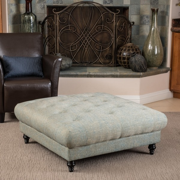 Christopher Knight Home Bordeaux Vapor Fabric Ottoman