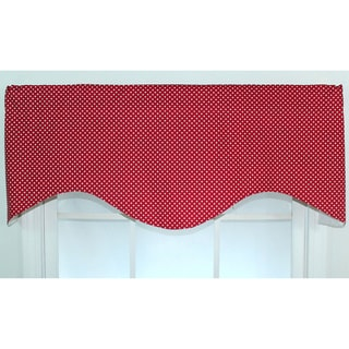 Dottie Lipstick Red Cotton Cornice Window Valance
