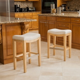Christopher Knight Home Avondale Beige Backless Counter Stool (Set of 2)