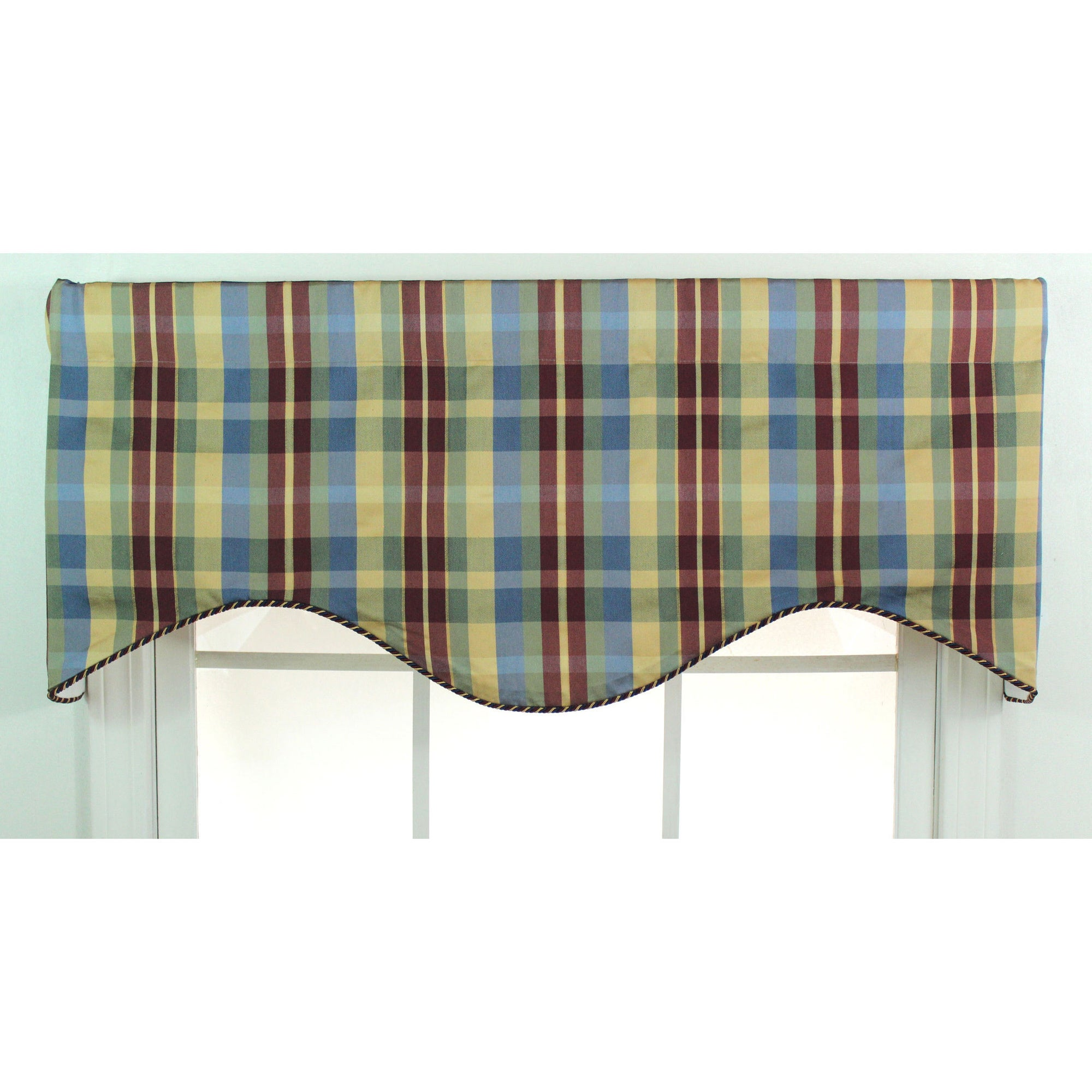 Rlf Home Terpel Plaid Cotton Cornice Window Valance at Sears.com