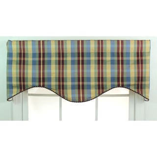 Terpel Plaid Cotton Cornice Window Valance