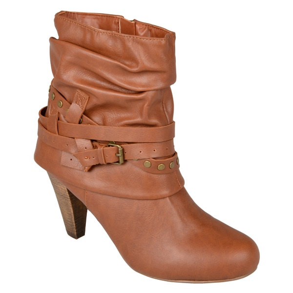 Madden Girl by Steve Madden Woman's 'Polyy' Buckle-Strap Slouch High Heel Booties