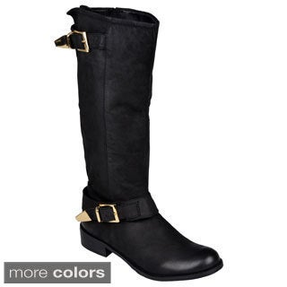 Steve Madden Women's 'Suspekt' Buckle Detail Riding Boots
