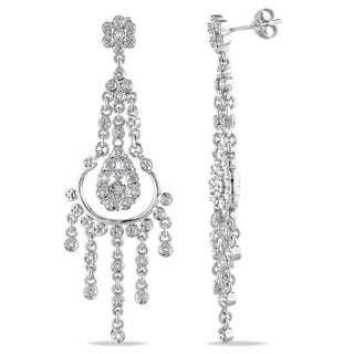 Miadora Sterling Silver 1/5ct TDW Diamond Chandelier Earrings (H-I, I2-I3)