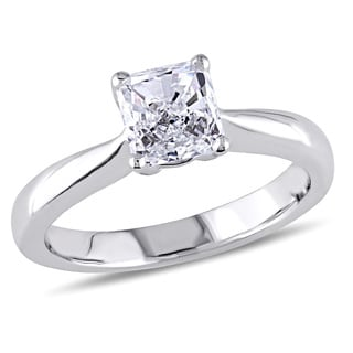 Miadora Platinum 4/5ct Asscher Cut Diamond Ring (G,VS1) (GIA)