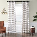Pavillion Pearl Flocked Faux Silk Curtain Panel