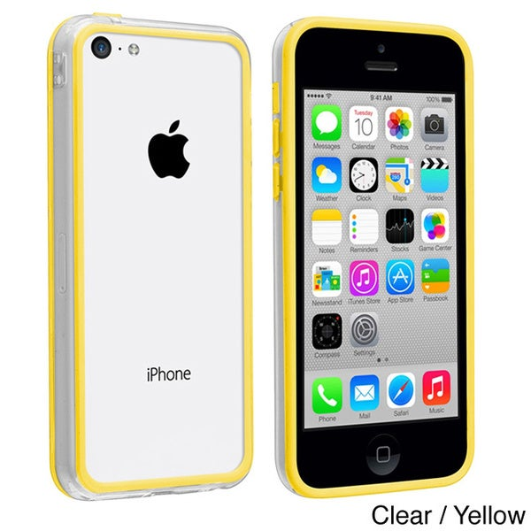 INSTEN Clear/ Yellow TPU Bumper for Apple iPhone 5C