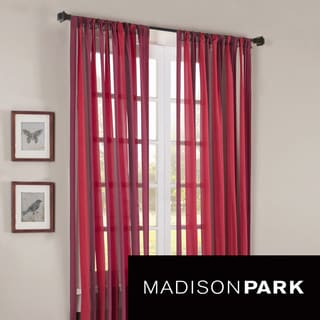 Madison Park Hamilton Wide Stripe Curtain Panel