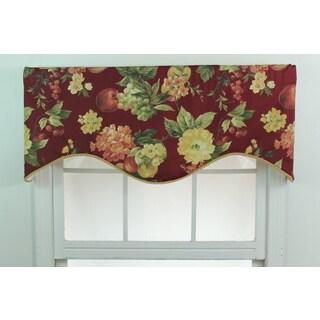 Bramasole Merlot Classic Cornice Window Valance