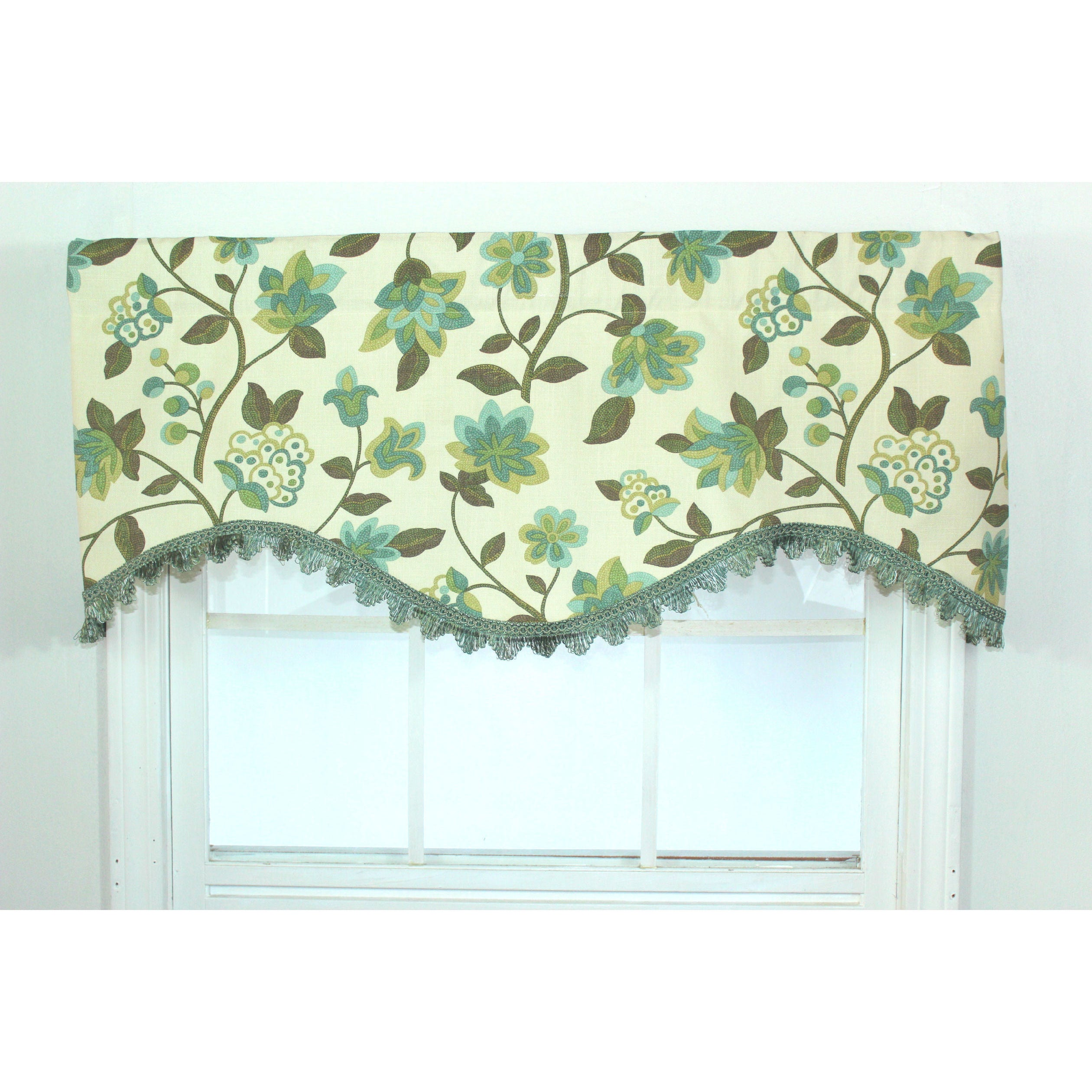 Rlf Home Harmony Spa Floral Cornice Window Valance at Sears.com