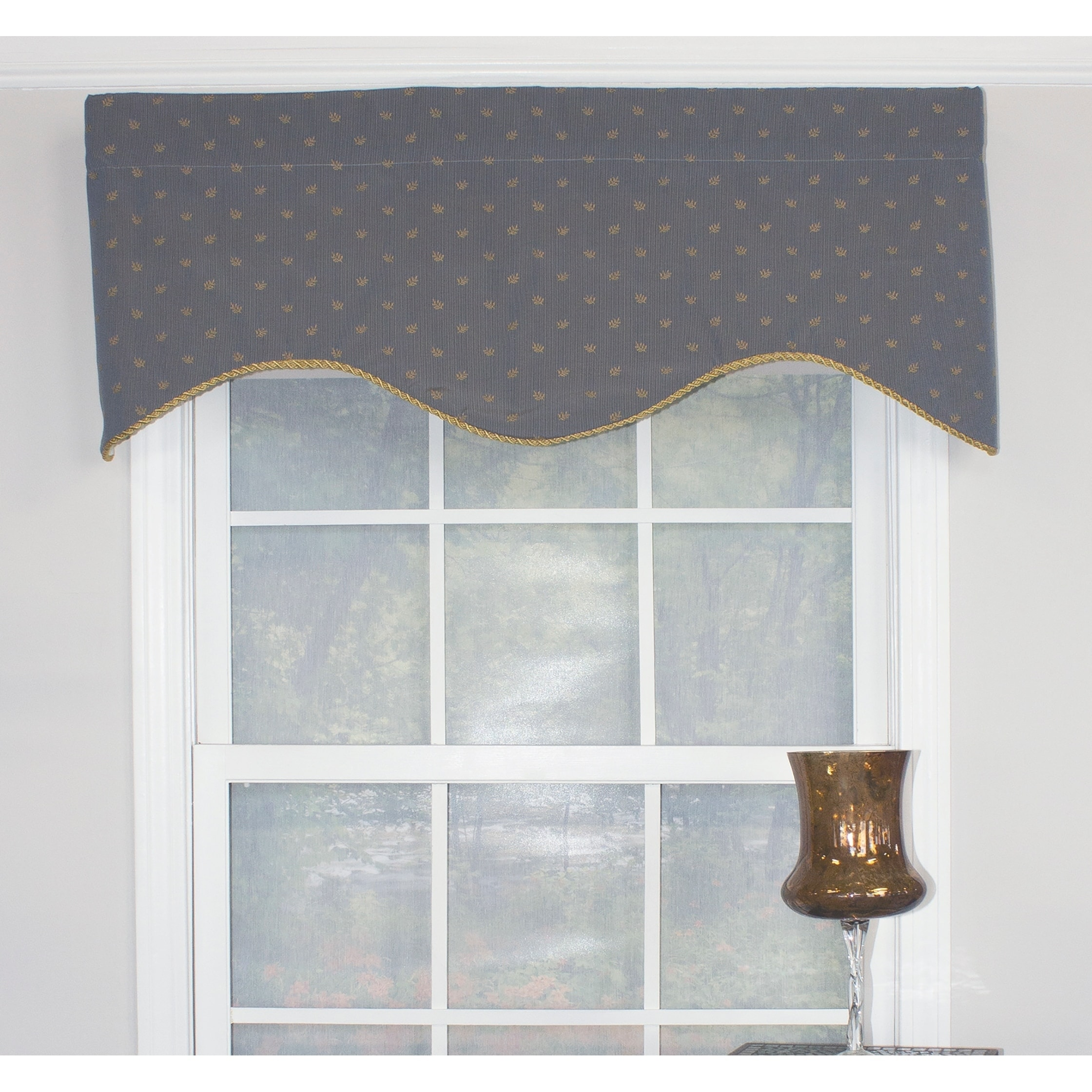 RLF Sutherland Indigo Cornice Window Valance at Sears.com