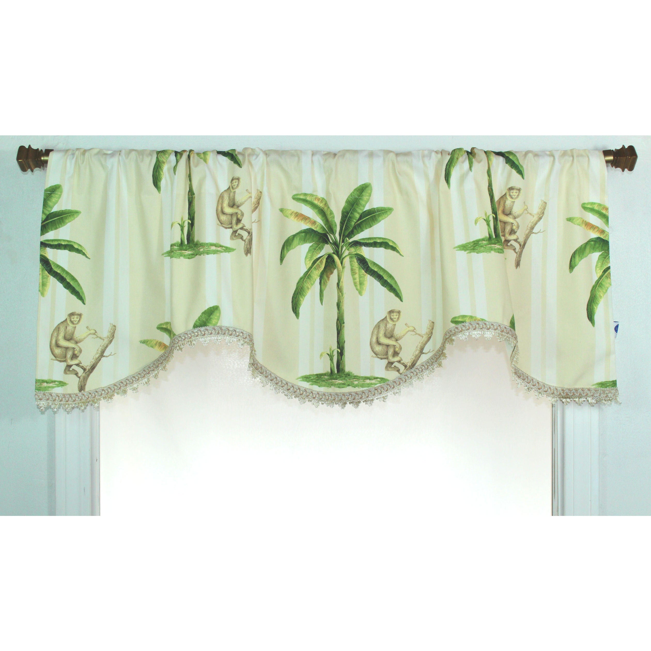Rlf Home Las Palmas Monkey Cornice Window Valance at Sears.com