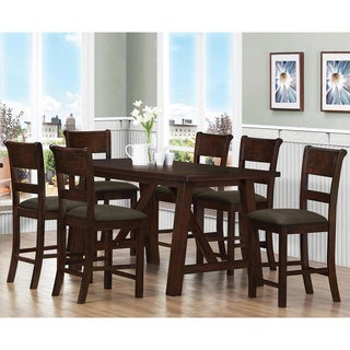 Park Avenue 7-piece Brown/Walnut Dining Set