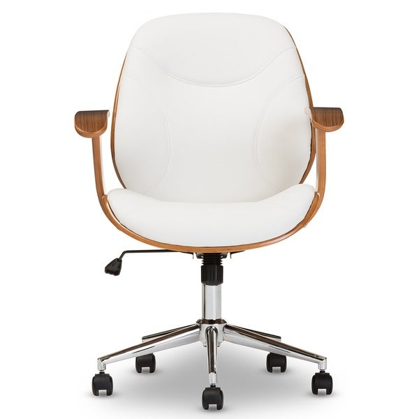 baxton studio rathburn walnut modern office chair 15741769