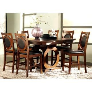 Abigail Dark Oak 7-piece Counter Height Dining Set