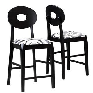 Art Deco Style Counter Stools (Set of 2)