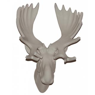 13-inches White Moose Head Wall Plaque