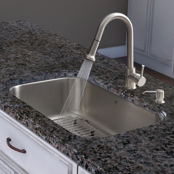 30 Kitchen Sink : ... in-one 30-inch Undermount Stainless Steel Kitchen Sink and Faucet Set